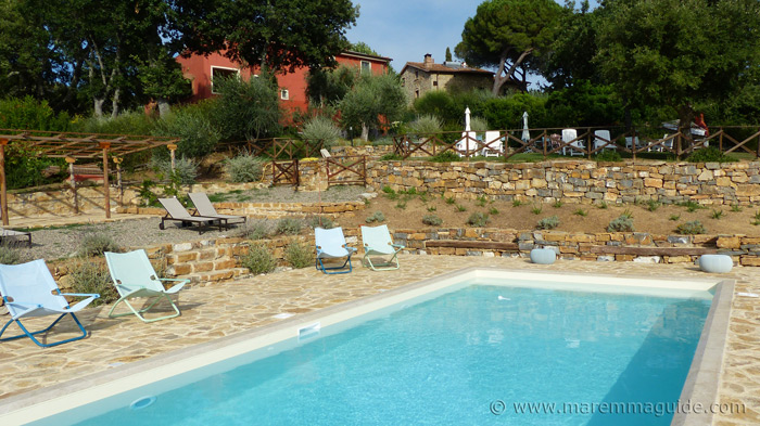 Tuscany bed and breakfast with swimming pool.