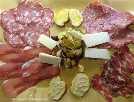 Traditional Tuscan lunch in Maremma Italy