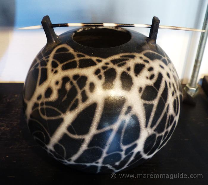 Tuscany pottery with a difference: bucchero and raku.