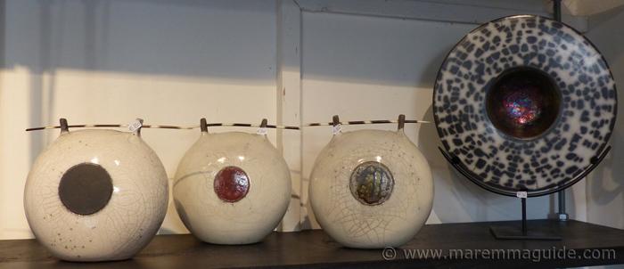 Raku ceramics in Tuscany Italy