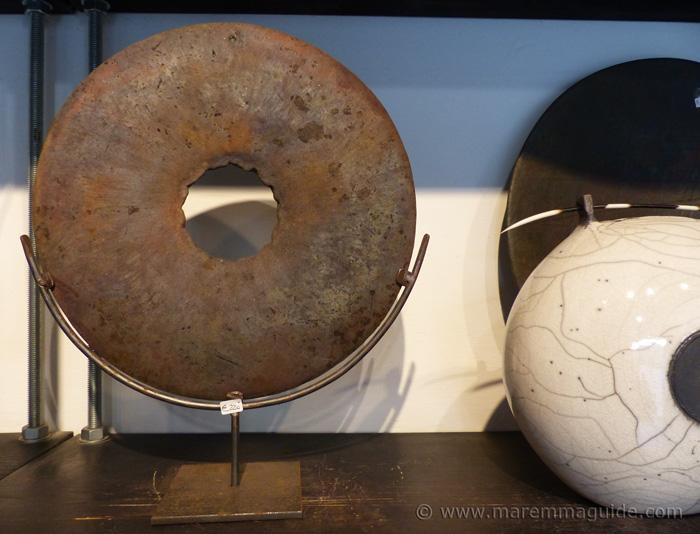 Pottery from Tuscany Italy.