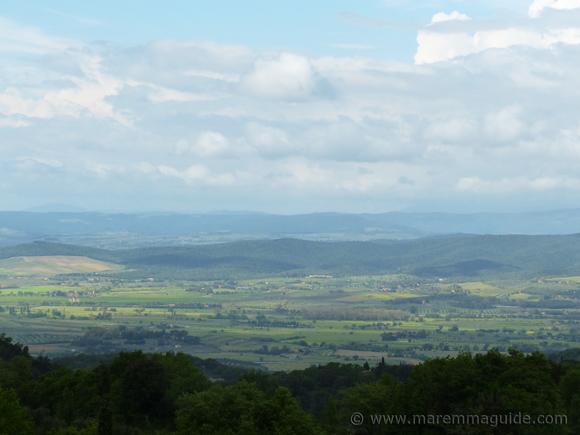 View of the metalliferous hills in Maremma.
