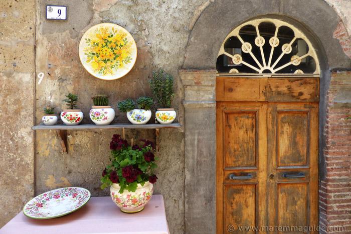 Tuscany door in Campiglia Marittima.