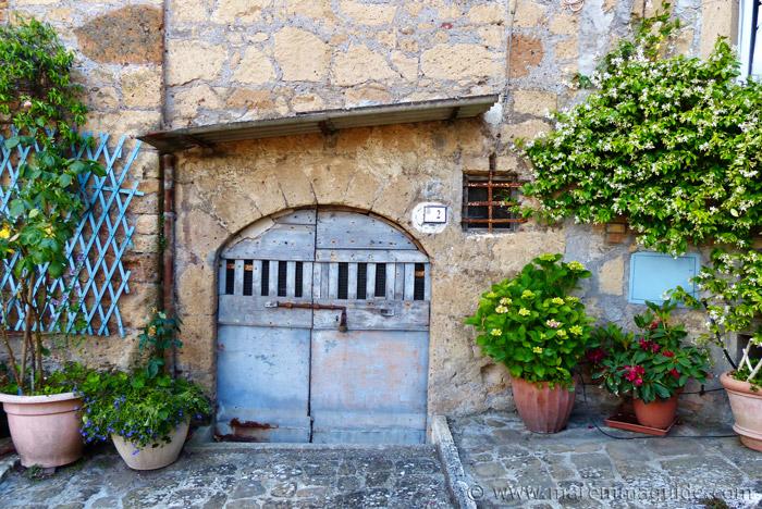Tuscany door in Sorano.