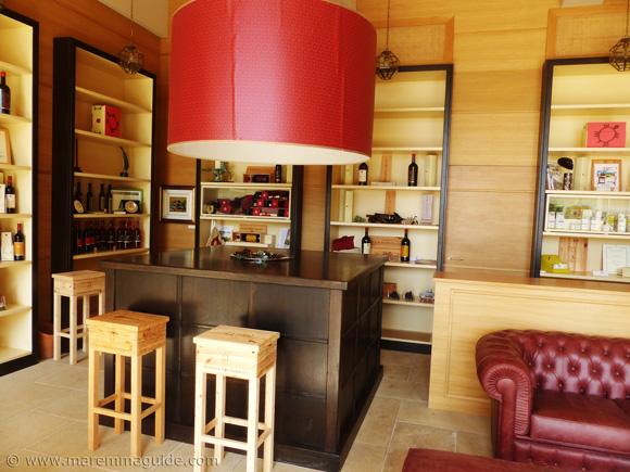 Tuscany estate wine tasting room
