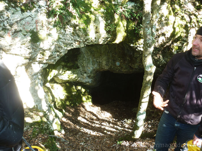The entrance to the silver mine in the Riserva Naturale delle Cornate e Fosini.