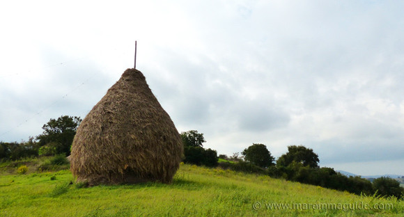 Traditional Tuscany hayloft: a pagliaio
