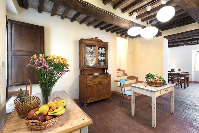 Tuscany hill town home for sale: apartment kitchen.