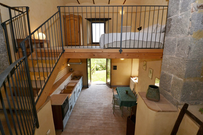 Loft apartment in old olive mill in Montelaterone Monte Amiata Maremma Tuscany.