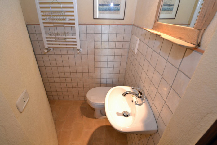 Smaller second bathroom.