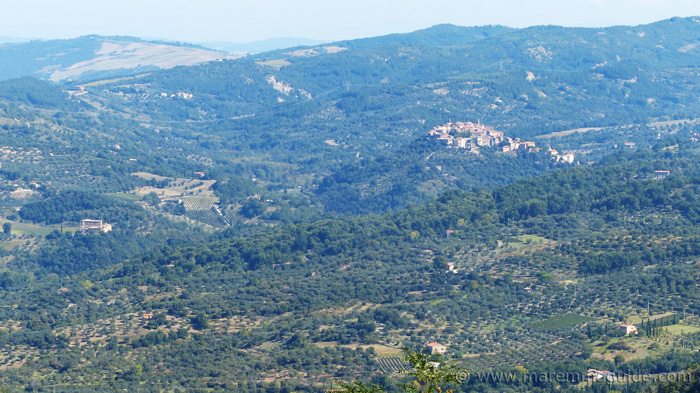 Seggiano and Castello di Potentino viewed from Montelaterone.