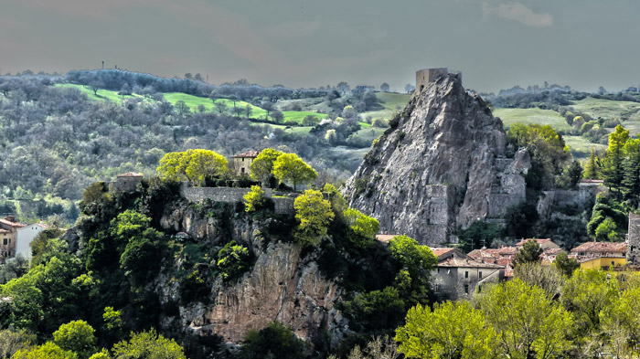 Tuscany hill town Roccalbegna in Maremma