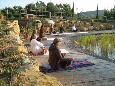 Tuscany holiday retreat with yoga, meditation and massage in a countryside farmhouse