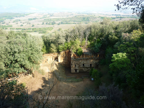 Tuscany Italy pictures: Etruscan necropolis Le Grotte Populonia Baratti Maremma