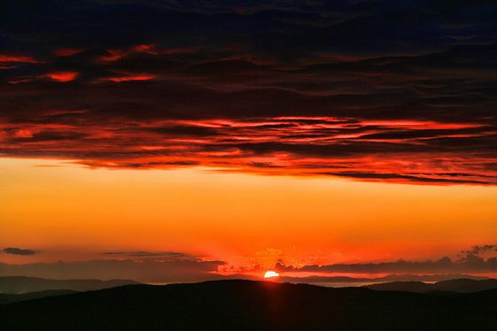 Tuscany Italy pictures: sunset in Maremma