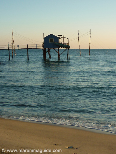 Tuscany photos: January Perelli beach Maremma Italy