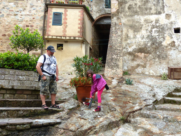 Sword in the stone in Roccatederighi Tuscany Italy