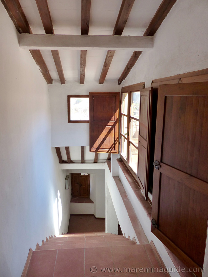 Tuscany tower staircase.