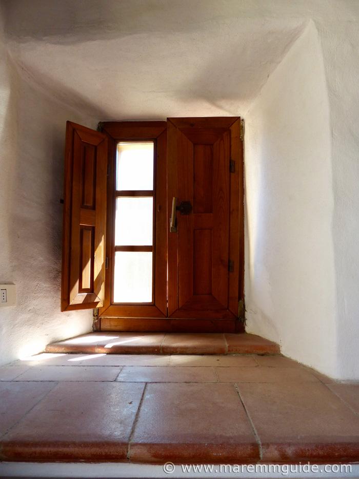 Medieval windowsill.
