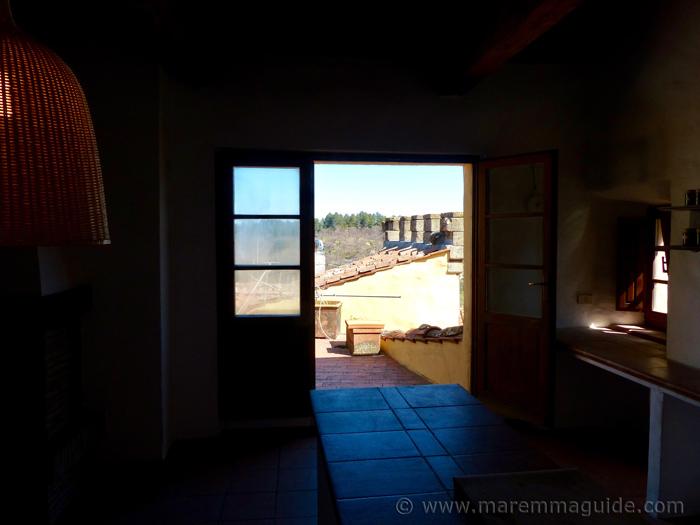 Double door to terrace.