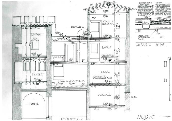 Medieval tower plan.