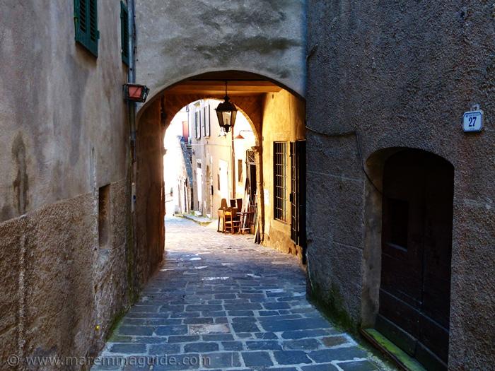 Porta di Castello Arcidosso Tuscany.