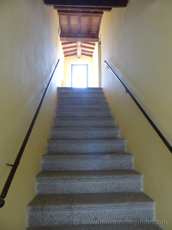 Staircase to third floor.