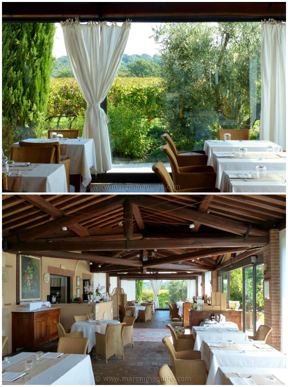 Tuscany wine estate restaurant in Maremma