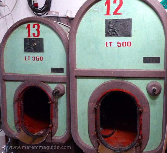 Tuscany wine fermentation tanks in a Maremma winery