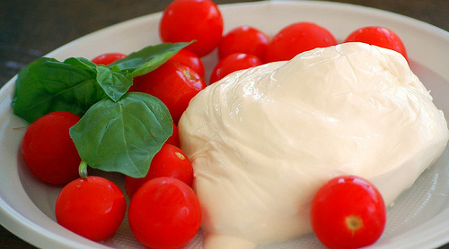 Typical Italian cheese: Burrata