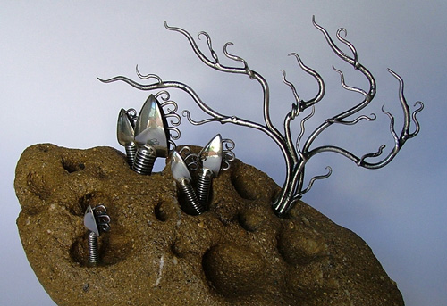 Unusual sculptures: Italian metal art - Lepas Anatifera