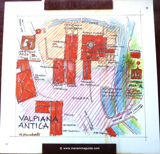 Valpiana, Massa Marittima: sketch of