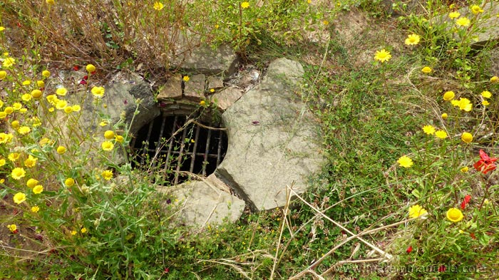 Etruscan drain in the lost city of gold.