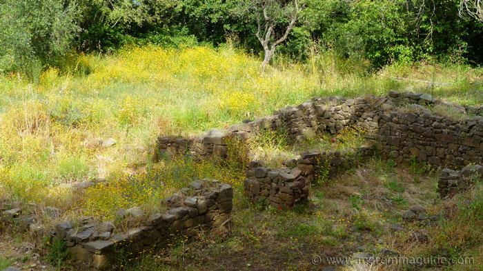 The lost city of gold at Vetulonia Tuscany Italy.
