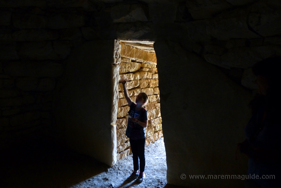 Vetulonia tombs: inside the Diavolino II tomb.