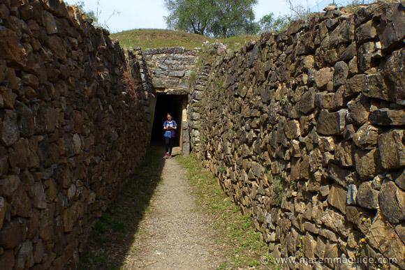 Etruscan tomb dromus at Vetulonia