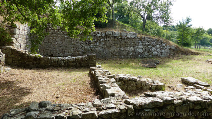 Etruscan archaeological site at Vetulonia Tuscany Italy