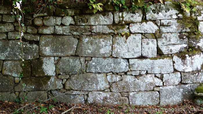 Etruscan dry-stone masonary walls at Vetulonia.