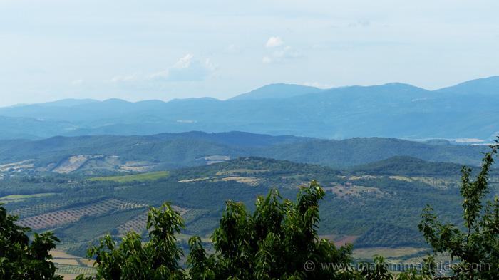 Maremma's metalliferous hills: view from Vetulonia