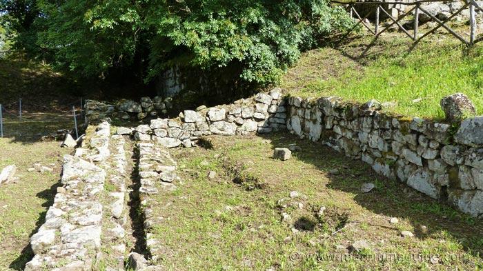 Poggiorello Renzetti Etruscan city archaeological site at Vetulonia.