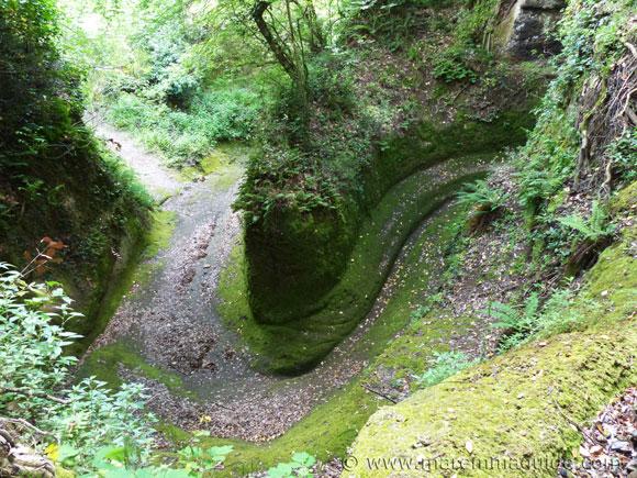 Vie Cave at Pitigliano Tuscany Italy.