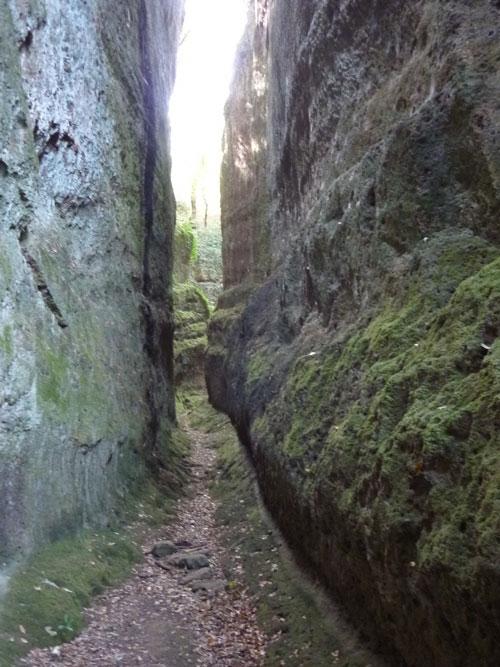 Vie Cave: Via Cava San Sebastiano Sovana Maremma Tuscany Italy