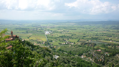 The panoramic view of Maremma from the medieval castle of Castello di Scarlino