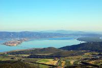 Orbetello, Laguna di Orbetello and Tombolo di Feniglia from Monte Argentario