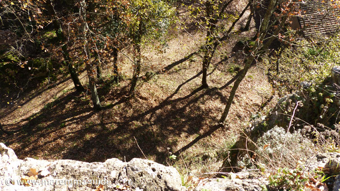 Vitozza: th eview from the first castle walls