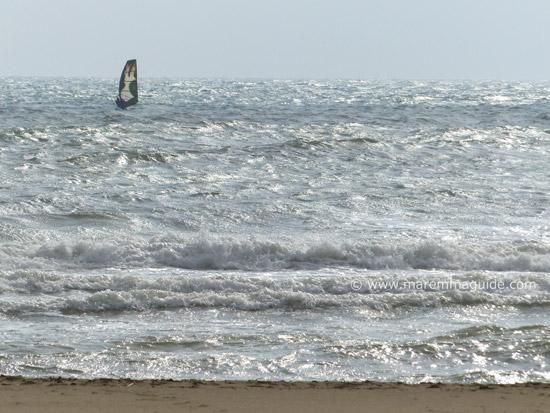 Windsurfing Marina di Grosseto Tuscany Maremma
