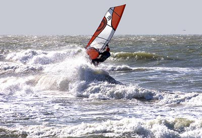 Windsurfing in Tuscany: the Follonica windsurfing regata, Maremma Italy