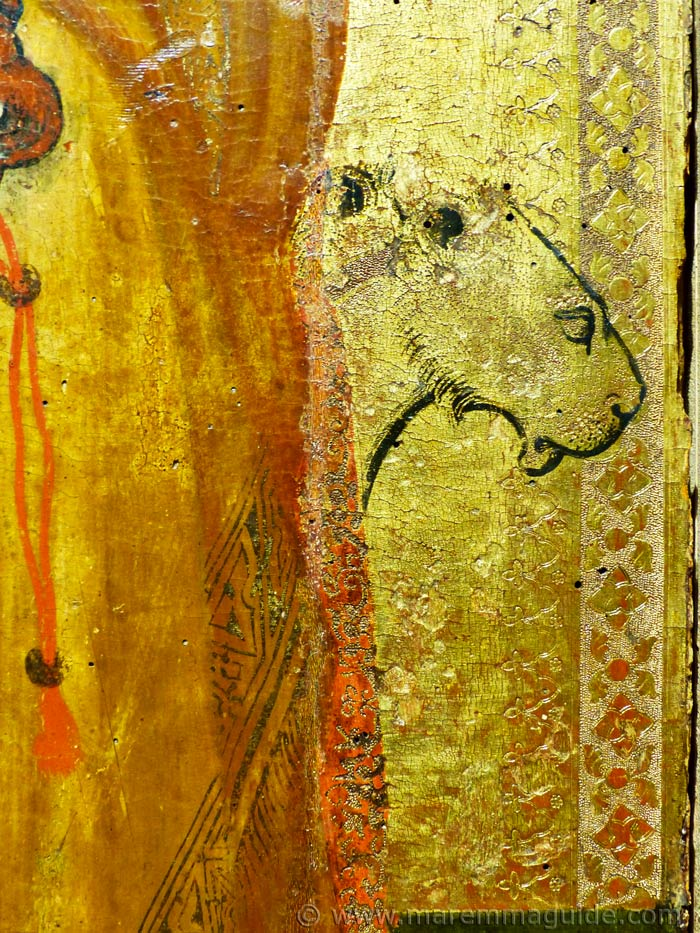 Ambrogio Lorenzetti in Maremma art: lions on gold.