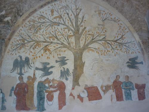 Art in the Middle Ages: Massa Marittima Mural L'Albero della Fecondita