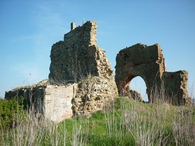 Badia al Fango abbey in the Diaccia Botrona Nature Reserve Maremma Tuscany Italy